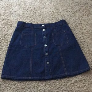 BRAND NEW Urban outfitters mini jean skirt
